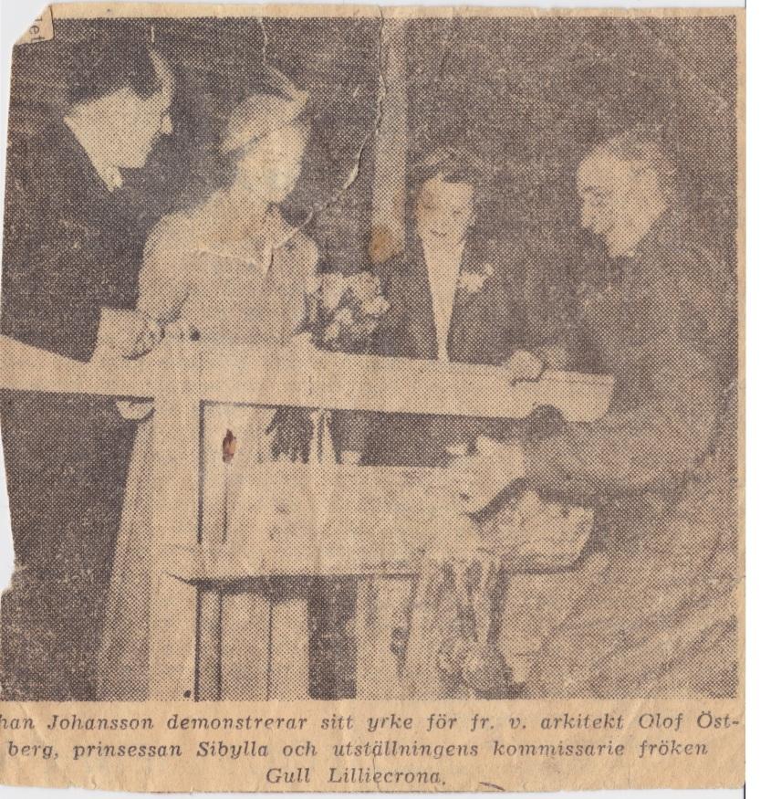 Johan Algot Johansson från kulturutställningen 1949 i Stockholm