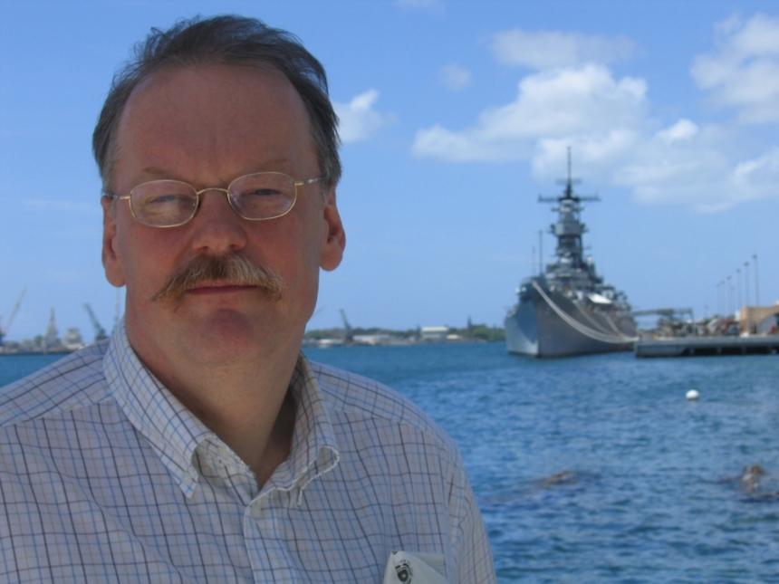 Professor Wolce vid  Pearl Harbor