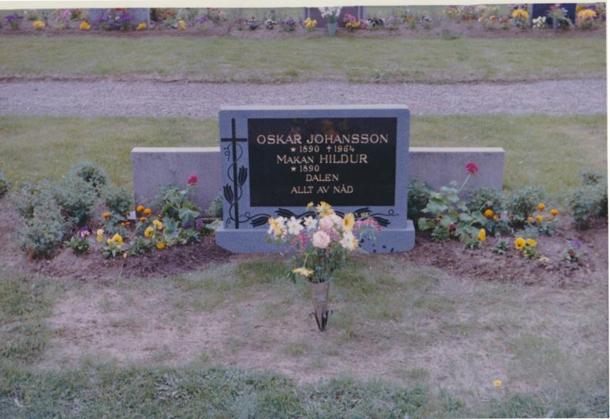 Oskar och Hildurs grav