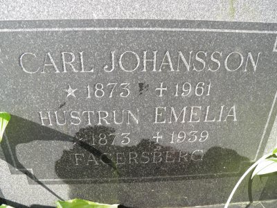 Tosten JOhanssons föräldrar Karl Johan Johansson och Agda Emilia Gill