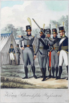 Svenskt infanteri ca 1810