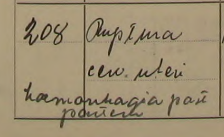 Från Beda Sofia Berg begravningsbok Dimbo F:2 (1895-1938) Bild 52 / sid 44