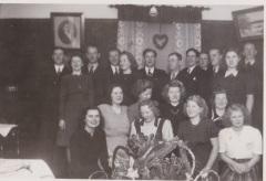 Gunhild Henrikssons 20 årsdag 10 jan 1946 i Bussaslätten Ljunghem.