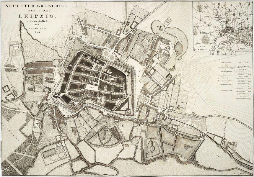 Karta över Leipzig (Bilden kommer i från Wikepedia)