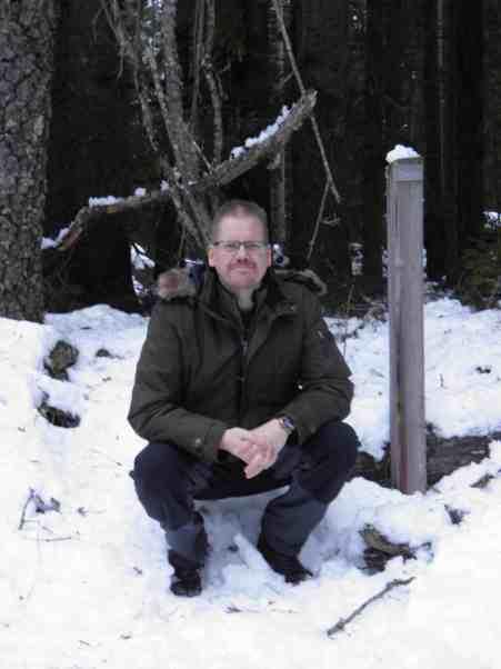 Mattias vid soldattorpet - Torp Aspelund där hans farfars mor växte upp