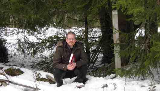 Mattias vid soldattorp Granelund