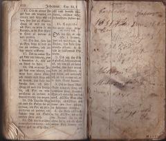 Bibel tillhörande Magnus Johansson född 20 i november 1831
