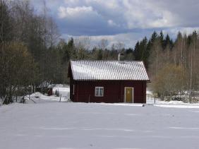 """Soldattorpet """"Bygget"""" i Skråmman i Fröjered (Tidaholm) där soldat 877 Lars Dunder levde"""