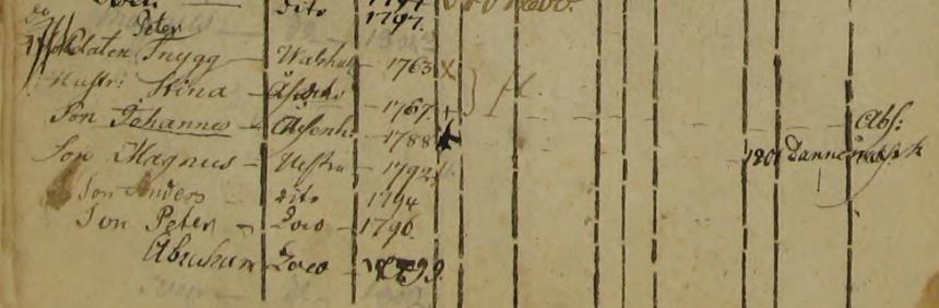 Familjen Petter Snygg i Ingelsbo soldattorp, Norra Hestra 1792-1800 (Bild från http://www.arkivdigital.se)
