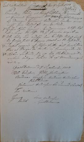 Soldatkontrakt för 440 Johannes Ryd , Gäsendes kompani för Galtholmen i Od 1819-09-09