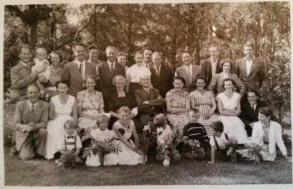 Johans 75 års dag hos Berta och Torsten på Trandared