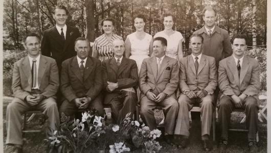 Johans 75 års dag med alla barnen