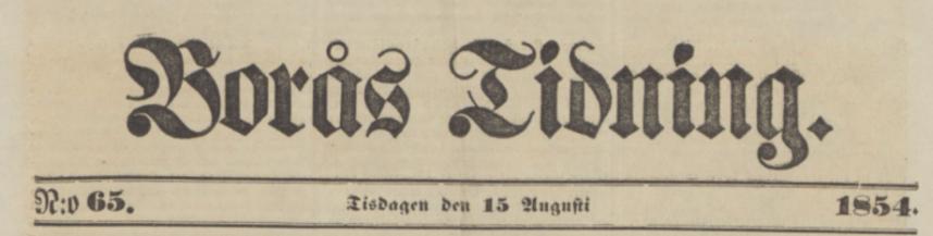 Borås Tidning 1854